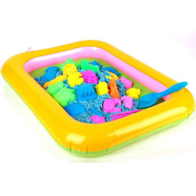 Inflatable Beach Sand Tray Plastic Mobile Table For Children Kids Indoor Playing Sand Clay Color Mud Toys Accessories Multi-func