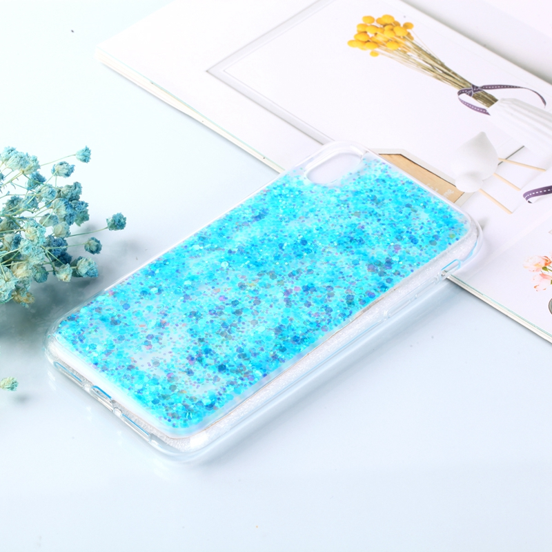 Glue glitter mobile phone case for iphone 7 8 6 6s X 10 XR Xs max Flash powder mobile phone protective shell fundasa case capa in Fitted Cases from Cellphones Telecommunications