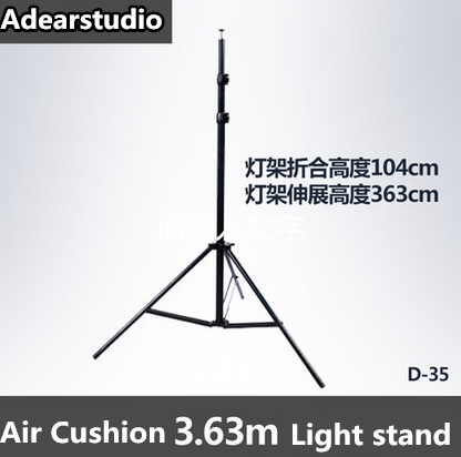 3.6m height with Air Cushion Photography Photo Studio Light Stand Air Cushion folding Light Stand NO00DC xinshetu photo studio air cushion light stand quality metal metal for led light softbox video flashes photography accessory