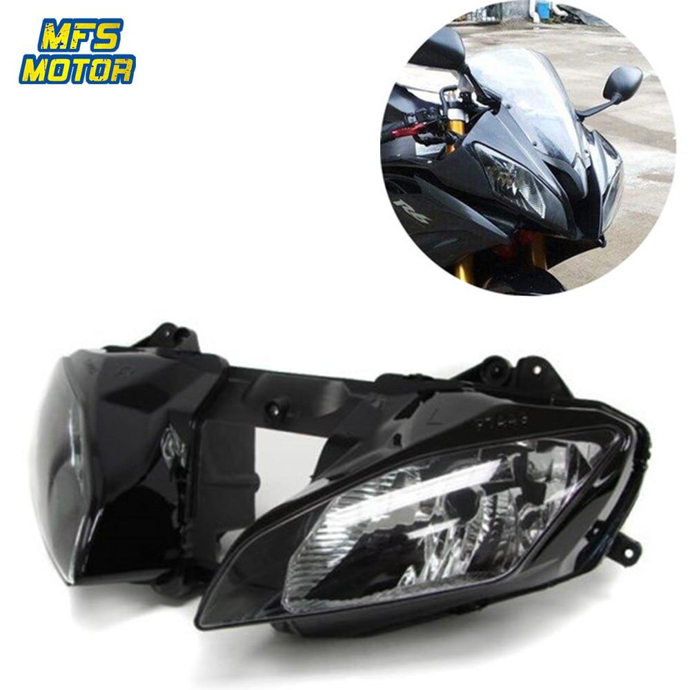 Para Yamaha 08-15 YZF-R6 YZFR6 R6 YZF Motocicleta Frente Farol Head Light Lâmpada Farol Montagem 2008 2009- 2015