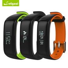 Leegoal P1 Bluetooth OLED SmartBand крови Давление монитор сердечного ритма браслет Водонепроницаемый IP67 Смарт Браслет переносной