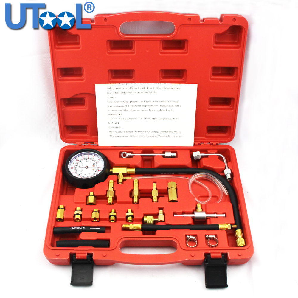 Professional Testing Gauge TU-114 Fuel Pressure Tester for Automotive Repair