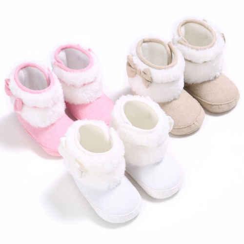 Для новорожденных Для мальчиков ясельного возраста обувь для девочки кроватки обувь лук Prewalkers