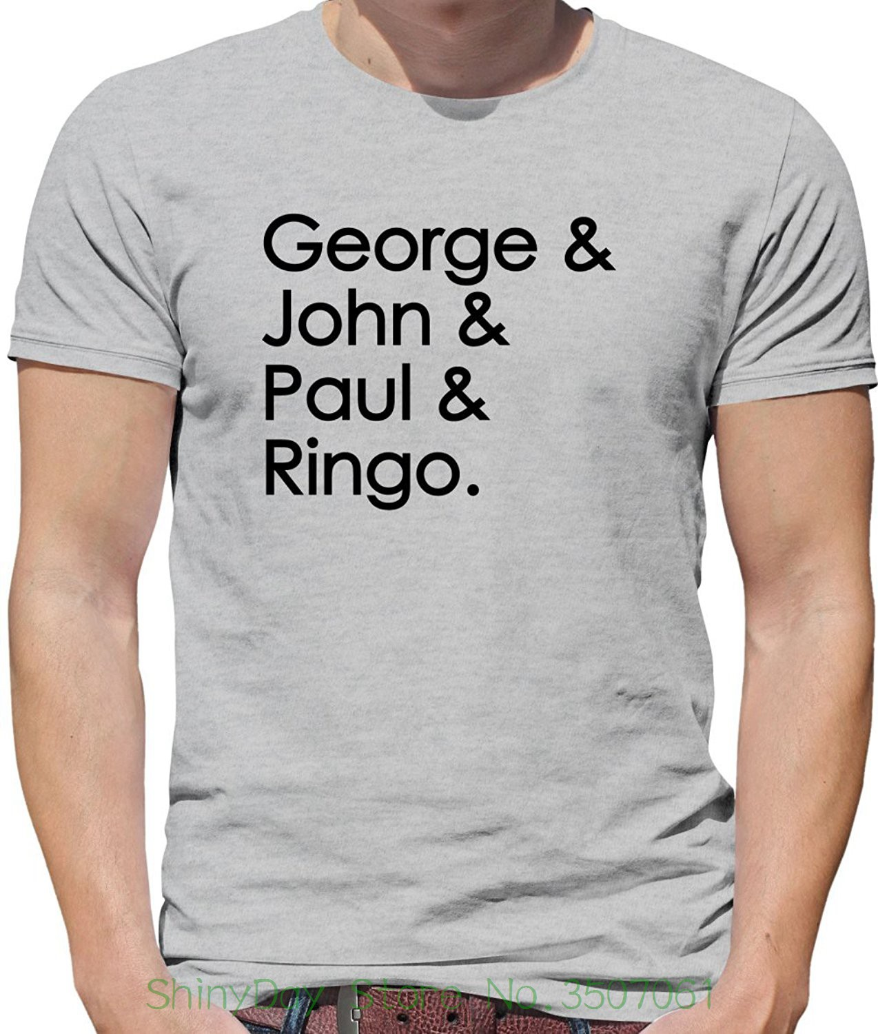 Shirts Homme Novelty Tshirt Men George & John & Paul & Ringo - Mens Crewneck T-shirt - 7 Colours