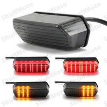 Luz LED de señal de giro integrada para motocicleta, accesorios para motocicleta, luz de freno para Honda Grom 125 MSX Smoke 2014 2015 2016
