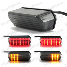 Motorcycle Accessories Integrated LED Tail Turn Signal Brake Light For Honda Grom 125 MSX Smoke 2014 2015 2016