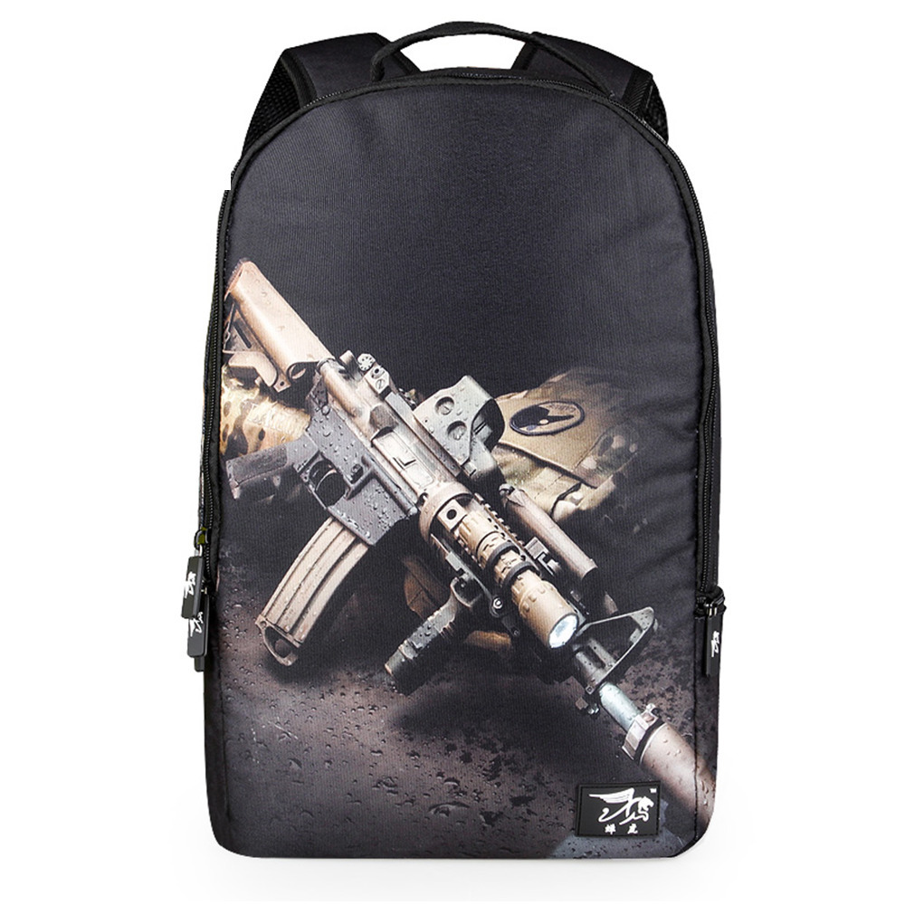 2016 Fashion Backpacks for Women Men School Bags for Teenagers 3D Printing  Skull Leopard Tiger Gun Shark Mochilas Backpakcs -in Backpacks from Luggage  ... 0ea4af7a60