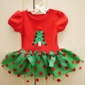 red Christmas flower girl dress baby girl Christmas clothing princess evening dresses for children Merry Christmas ruffle Dress