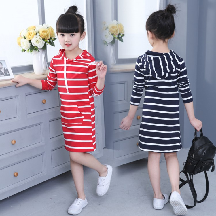 Fashion summer Girl Dress Hooded Long Sleeve Kids Clothes Toddler Next Casual Children Clothing Striped Tutu Baby Dresses Girls spring autumn girl dress hooded long sleeve kids clothes toddler next casual children clothing striped tutu baby dresses girls