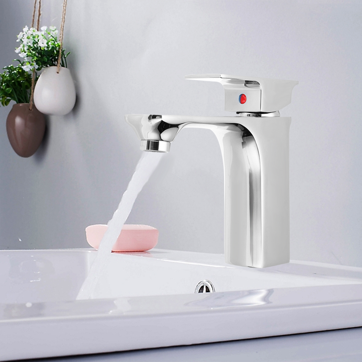 Chrome/Black Brass Bathroom Basin Low Faucet Single Hole/Handle Waterfall Bath Sink Faucet Hot and Cold Water Mixer Tap chrome brass bathroom basin faucet counter top cold and hot water mixer tap sink single handle hole bath room taps