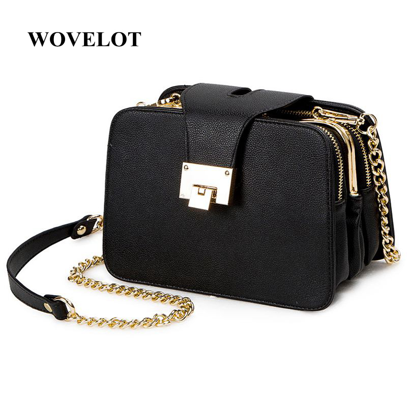 FGGS Spring New Fashion Women Shoulder Bag Chain Strap Flap Designer Handbags Clutch Bag Ladies Messenger Bags With Metal Buck
