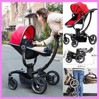 V baby Luxury High View Mutifunctional Travel System Baby Stroller Pram Buggies Portable Folding Four Wheels Newborn Pushchair