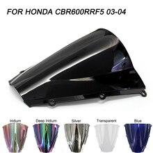 ABS Windscreen For Honda CBR600RR CBR 600RR F5 2003 2004 Double Bubble Motorcycle Windshield Wind Deflectors