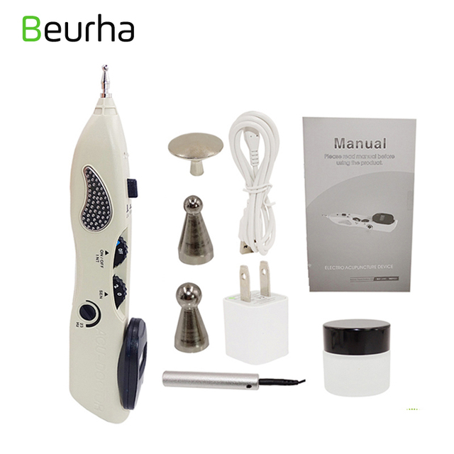 Beurha Acupuncture Pen Point Detector Electronic Acupressure Massage Pain Therapy Electric Acupuncture Meridian Pen Health Care