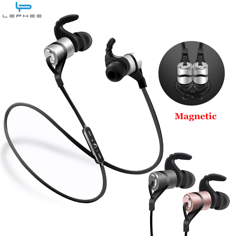LEPHEE Sport Earphone Hifi Wireless Earphones Bluetooth Super Bass Earbuds with Mic Noise Cancelling Headset for Xiaomi Mi Phone jinserta super bass bluetooth earphone wireless headset sports headsets with mic hifi stereo bluetooth earphones for phone
