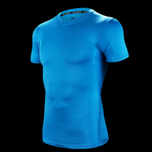 Top Quality Men's Compression T-Shirt Running Shirt Sport T Shirt Elastic Tracksuit Sport Gym Fitness Short Sleeves