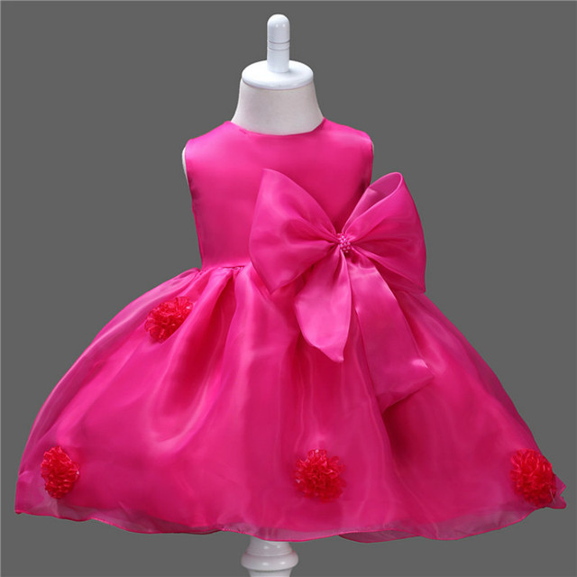 Baby Girl Dresses New 2016 Bow Flower Tutu Princess Christmas Costumes and New Year Costume Dress for Kids Girls Clothing DRE015