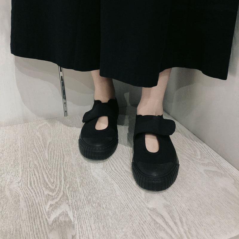 Cakucool Faulenzer Casual Frauen Wohnungen Slip Auf Haken Schleife Leinwand Wohnungen Mary Janes Grundlegende Atmungsaktive Schuhe Frauen Schwarz Weiße Turnschuhe-in Flache Damenschuhe aus Schuhe bei  Gruppe 1