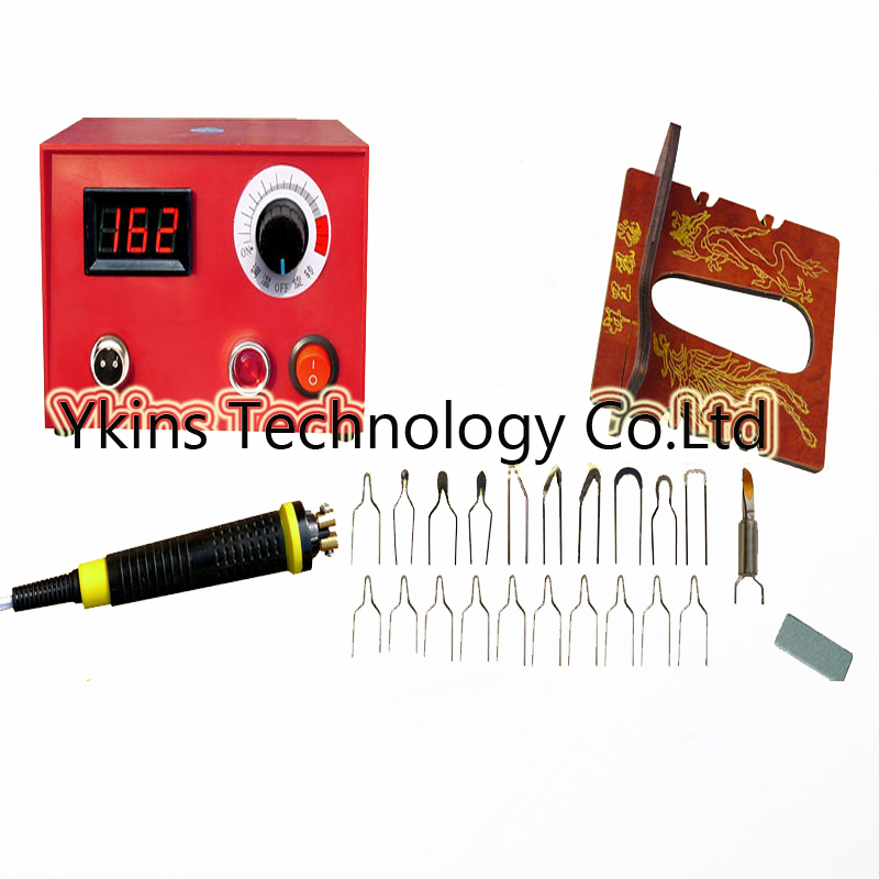 50W digital temperature Multifunction gourd pyrography machine+20pcs Pyrography iron Tips +1pc Solder head Wooden gourd crafts free shipping multifunction gourd pyrography machine pyrography pen rendering pen 20pcs pyrography iron tips wooden gourd crafts