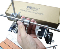 10pcs Lot DHL FEDEX Free Shipping Full Metal Kitchen Knife Sharpener System Fix Angle 4pcs Stones