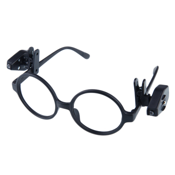 2pcs Mini LED Light Glasses Made With Plastic Material Used In Car And Camping