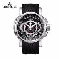 Риф Тигр/RT Спорт хронограф с датой зеленый циферблат каучуковый ремешок Кварцевые часы для Для мужчин RGA3063