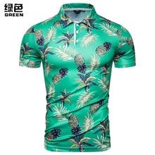 2019 summer fashion men's multi-color pineapple print short sleeves