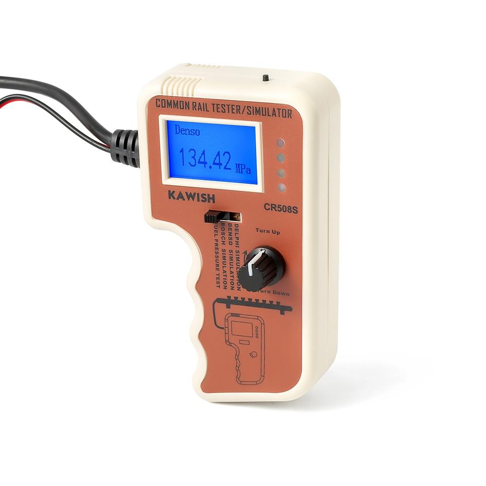 Testeur et simulateur de pression à rampe commune Diesel CR508 pour Bosch Delphi Denso outil de Test de capteur outils de Diagnostic haute pression