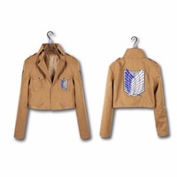 Free Shipping Cool Cosplay Attack On Titan Shingeki No Kyojin Recon Corps Jacket Coat Costume