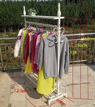 Кованого железа магазин одежды дисплей шельфа. консоли вешалка. одежда стойки отображения шельфа.