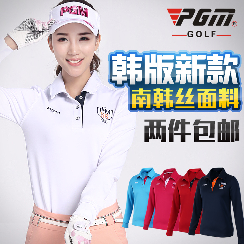 9e0883e7 New pattern PGM golf wear, ladies long sleeve T-shirts, spring clothes,  ball suits, Korean dresses, Korean blouses