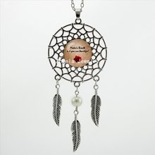 2017 Trendy Style Alistair's Rose Quote Necklace Dragon Age Origins Jewelry Dream Catcher Pendant Necklace DC-00409