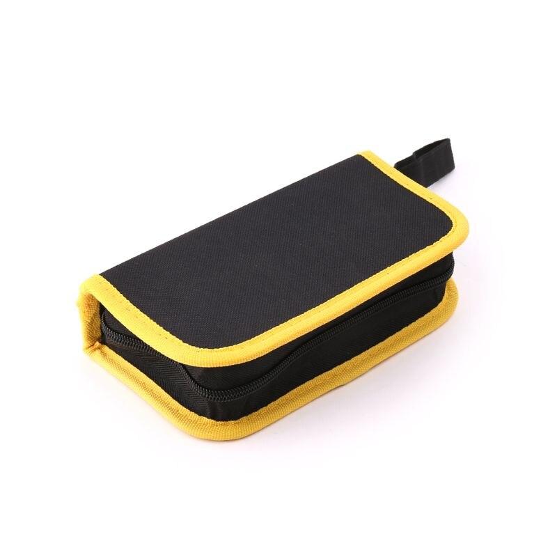 Waterproof Oxford Canvas Tool Bag Electrician Hardware Repair Tool Handbag Handy Zip Pouch