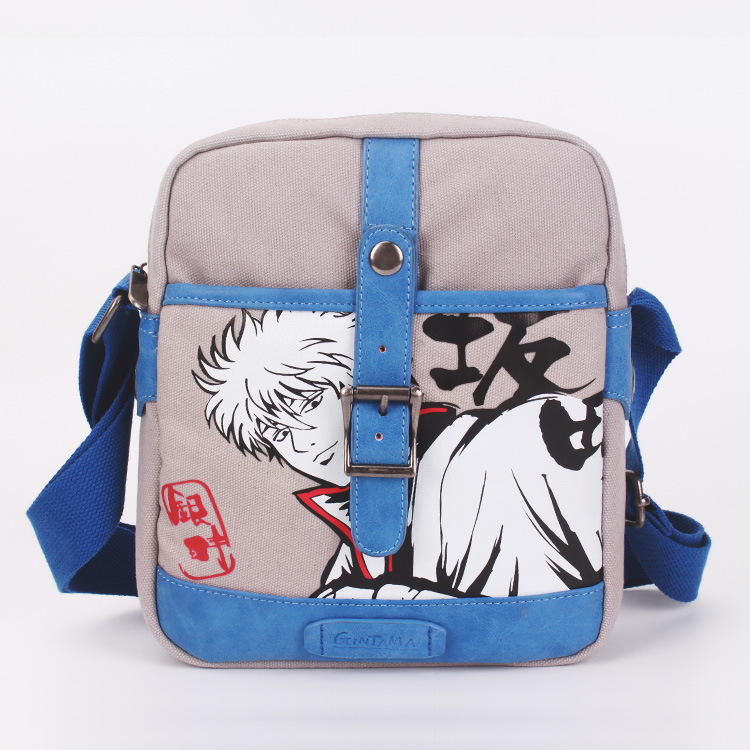Mens Travel Bags Cool Canvas Bag Messenger Bags Gin Tama/Totoro/One Piece/Attack on Titan Shoulder Bags 26*20cm