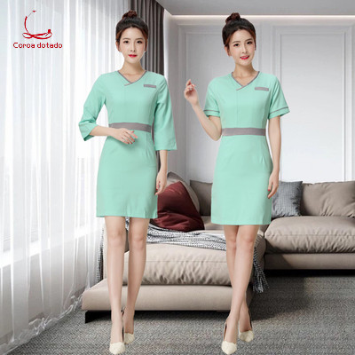 Beauty Salon Work Clothes SPA Spring And Summer Dress Beautician Work Clothes Set Female Health Salon Work Clothes