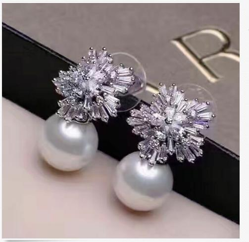 a pair of 10-11mm south sea round white pearl earring arte lamp настенно потолочный светильник arte lamp ornament a3320pl 3cc