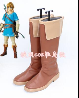The Legend of Zelda Breath of the Wild Link Cosplay Boots Shoes Custom Made AA