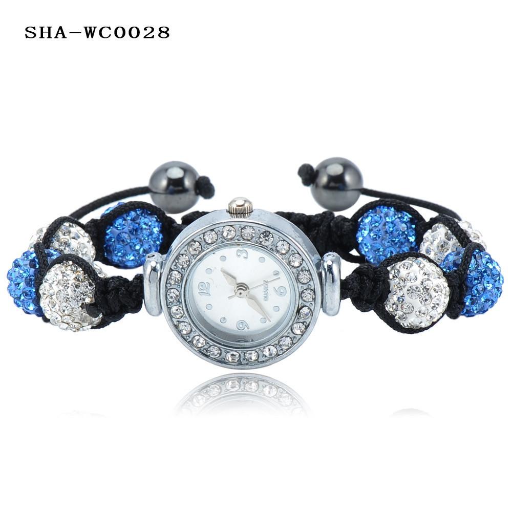 большая распродажа шамбалы браслеты для часов в AB клей дискотечный шар из бисера браслет шамбала часы цветов смешивания опции ша-wcmix3