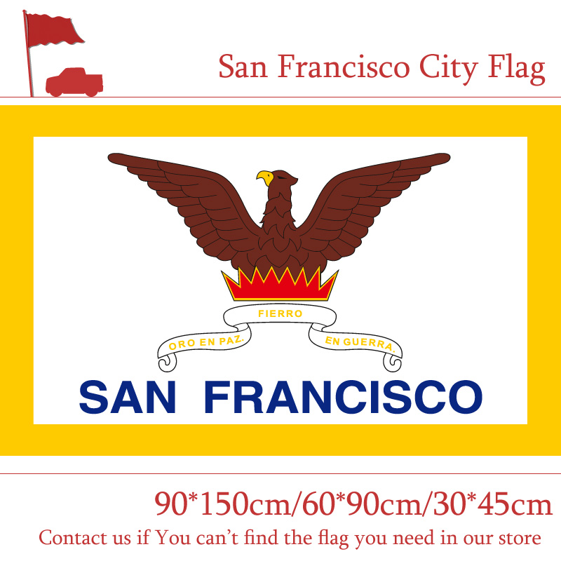 San Francisco City Flag Of California State 90*150cm 60*90cm 30*45cm Car 3x5ft 100d Polyester For Office