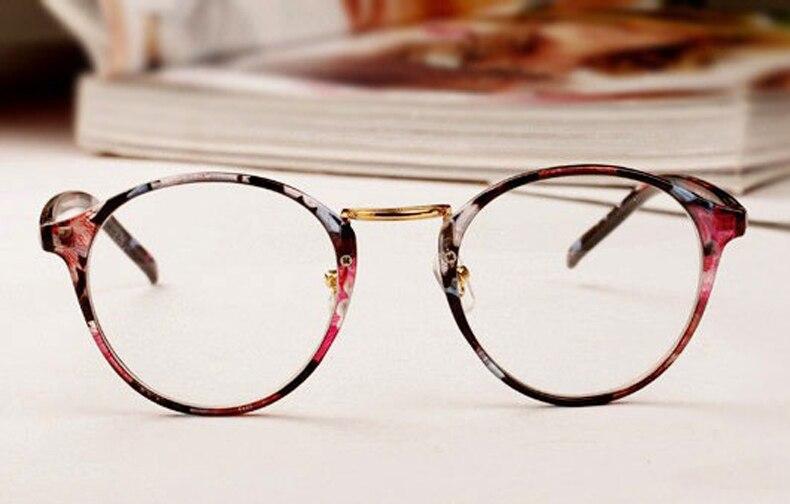 ab6106a92d52b ᓂAlta Qualidade Rodada Óculos Com a Lente Clara, Armações de Óculos ...