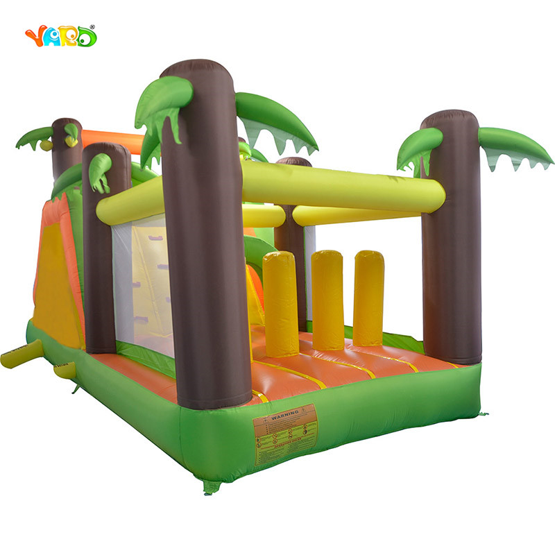 YARD New Bounce House With Climbing Wall Obstacle Tunnel Infltable Slide And Trampoline For Kids Bounce Castle Party Game yard residential inflatable bounce house combo slide bouncy with ball pool for kids amusement