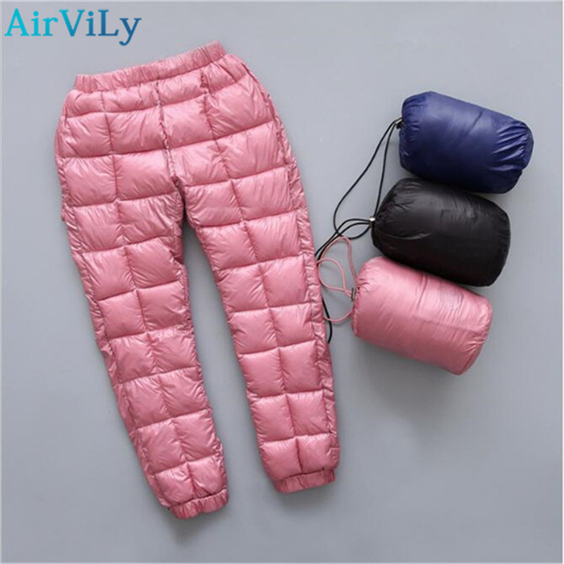 Winter Children Down Cotton Clothing Boys Pants Girls Leggings Kids Warm Down Trousers Windproof Waterproof Snow Pants For Kids