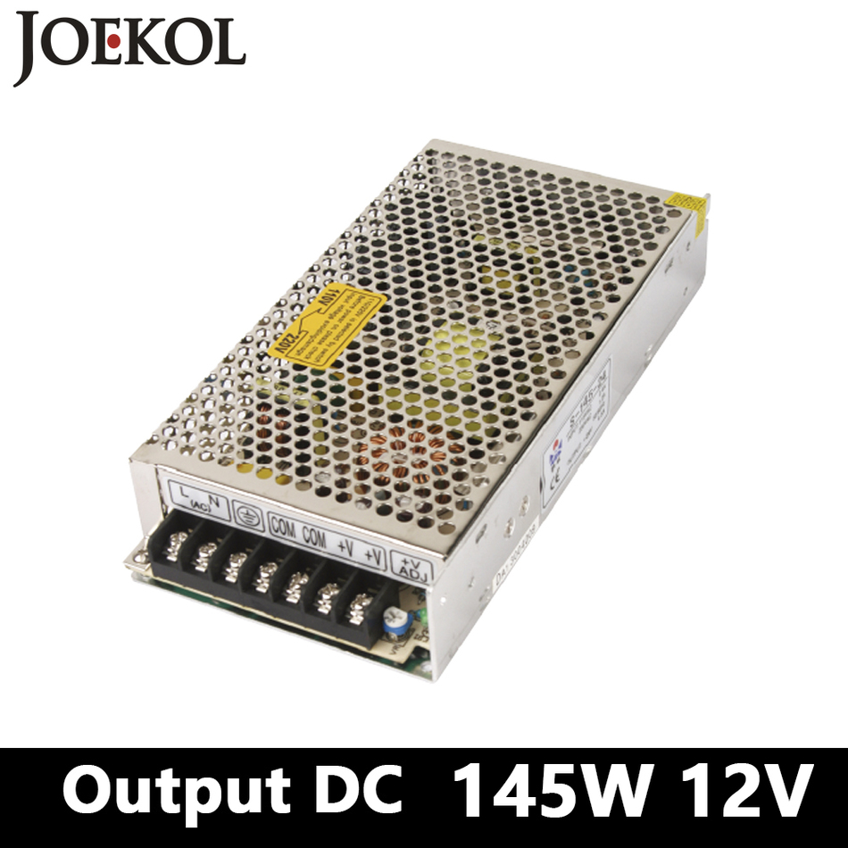 Switching Power Supply 145W 12v 12A,Single Output Ac-dc Power Supply For Led Strip,AC110V/220V Transformer To DC 12V,Led Driver high power switching power supply 1500w 12v 125a single output ac dc converter for led strip ac110v 220v transformer to dc 12v