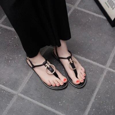 2 Luz Simple Sexy Romana 1 Sandalias Verano Mujer Zapatos Del 2018 Pieza Planas Con PO0Bn
