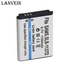New 1100mah Battery 1137D SLB-1137D Camera Battery for Samsung DigiMax L74 L74 Wide i100 85 i80 NV24 NV30 NV103 NV40 NV106 PM191