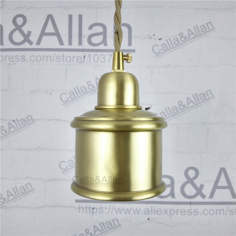 Aliexpress buy e27 brass socket with copper lampshade fabric aliexpress buy e27 brass socket with copper lampshade fabric wire pendant lamp fixture quality brass lighting with led bulb for home decoration from greentooth Gallery