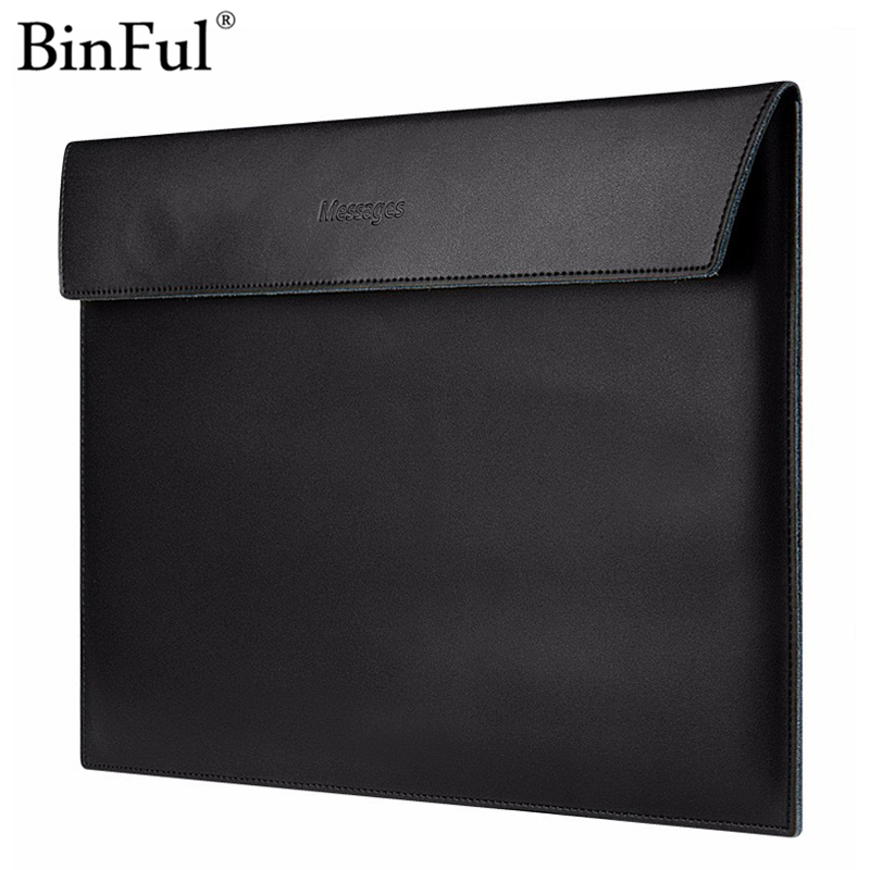 Binful PU Leather For MacBook Air Retina 11 12 13 15 inch Laptop Bag Case Sleeve Notebook Carry Bag For Macbook Case women Bag gearmax 11 12 13 14 15 laptop case bag for macbook air 13 black men laptop bag case for macbook air 15 notebook sleeve women