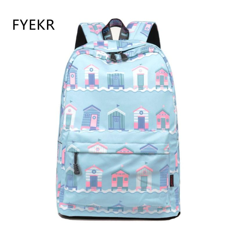 Casual Backpacks Women Waterproof Printing Back Pack for Teenager Girls Fashion Female Travel Laptop Knapsack of Back to School
