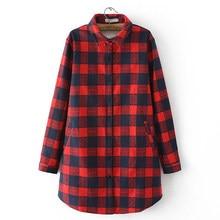 be7bd65b01 Plus size código aumento mulheres £ 200 MM de gordura de longo Inverno  grosso camisa xadrez de pelúcia primavera quente do sexo .