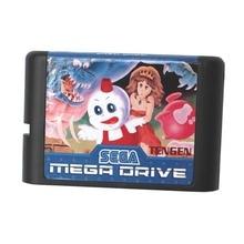 Sega MD carte de jeu-Neige Bros Nick et Tom pour 16 bits Sega MD jeu Cartouche Megadrive Genesis système